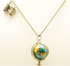 Globe and binocular long necklace