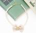 Pearl necklace with ribbon