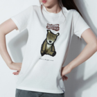 Unique Illustration T Shirt - Brown Bear