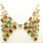 Colourful crystal statement necklace