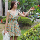 flowery sunshine rest and relax feminine dress