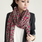 Colour leopard dots cotton soft scarf muffler
