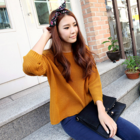 back open knit wear cardigan