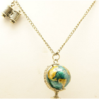 cute and lovely globe and binocular cute long necklace