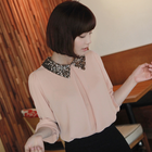 Sequin collar chiffon blouse