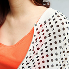 Dot Pattern Chiffon Zip Jacket