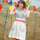 summer cotton embroidery dress