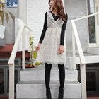 All lace dress with pretty hem finish