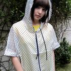 Gorgeously Chic Polka Dots Lighweight Hoody Rainy Coat