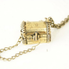 cute Vintage touch treasure box long necklace