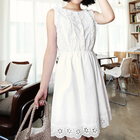 Cotton White Lace Dress