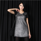 Classy bling bling chic silver tunic