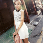 delicate Lace dress with pointed collar