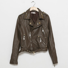 Trhendy & Chic Faux Leather Biker Jacket