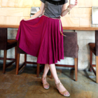 Simple Flare long Skirt (with elastic waistband)