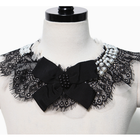 unique ribbon and lace statement collar