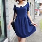 Vintage inspired Peter Pan collar dress